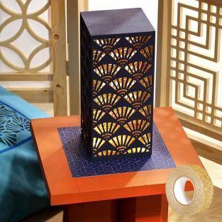 Holzlampe im japanischen Stil zum...