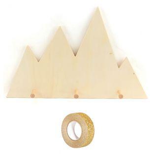 Perchero de madera 45 x 28,5 cm...
