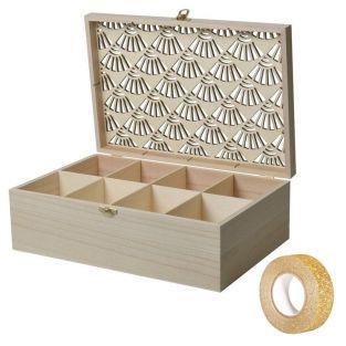 Boîte à bijoux bois à customiser 30 x...