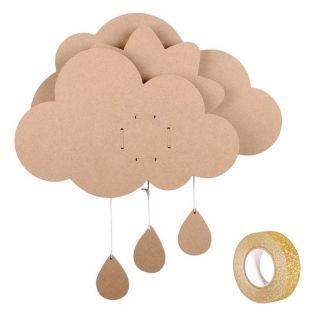 Music box Wooden cloud 39 x 50 cm +...