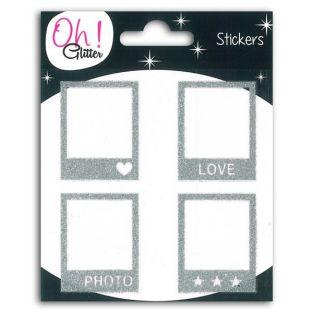 Stickers Polaroïd argent