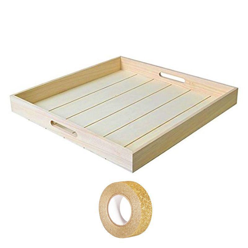 Vassoio in legno 29 x 19 cm