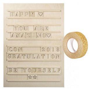 Tableau à lettres Letterboard bois 30...