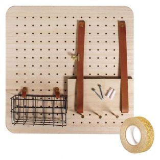 Pin & Peg Holzwand-Organisator 40 x...
