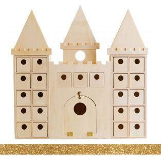 Adventskalender aus Holz Schloss zum...