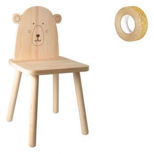 Silla infantil de madera para pintar...
