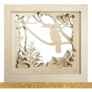 3D Decorative wood frame XL 53 x 53 x...