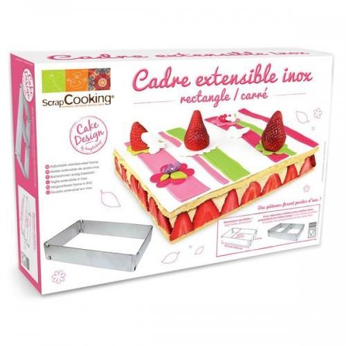 Cadre à pâtisserie extensible - rectangle
