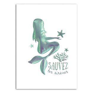 Motiv zum Aufbügeln A5 - Meerjungfrau