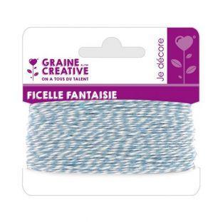 String 10 m - hellblau-weiß