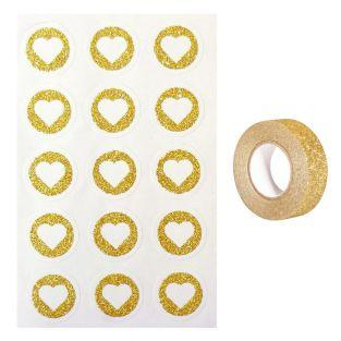 60 round stickers Ø 2,6 cm with...