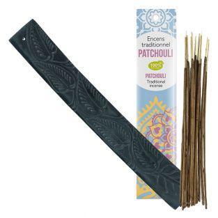 Kaya stone incense holder with exotic...