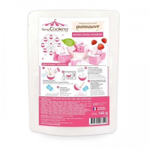Préparation guimauve rose - arôme fraise
