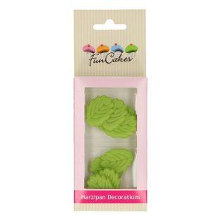 12 foglie verde di marzapane Funcakes