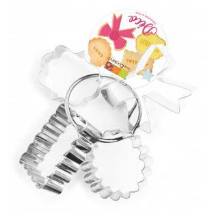 4 Stainless steel biscuit cutters -...