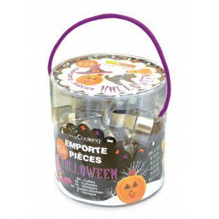 Bucket 16 steel cookie cutters -...