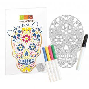 Calavera cake kit and 5 food markers