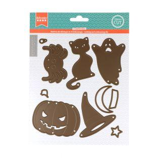 7 cutting and embossing dies - Halloween