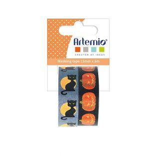 2 Washi Tapes Halloween 5 m x 15 mm -...