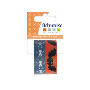 2 Masking tape Halloween 5 m x 15 mm...