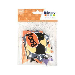 42 forme di carta tagliata - Halloween