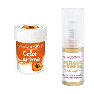 Orange food dye Apricot flavor 10 g +...