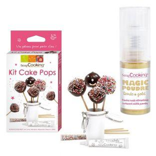 Cake pops making set + Golden edible...