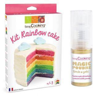 Kit Rainbow Cake + 1 poudre...