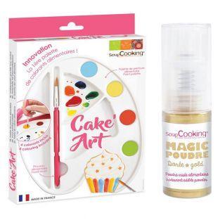 Food paint palette + Golden edible...