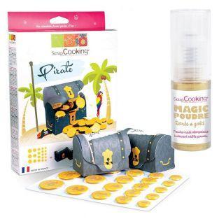 Chocolate kit pirate treasure +...