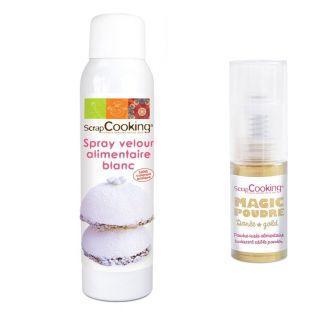 Velvet Spray white + Golden edible...