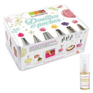 Pastry box 6 stainless steel nozzles...