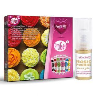 ProGel Box mit 6 Lebensmittelfarben...