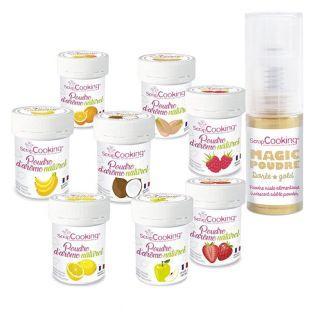 8 natural food flavoring powders +...