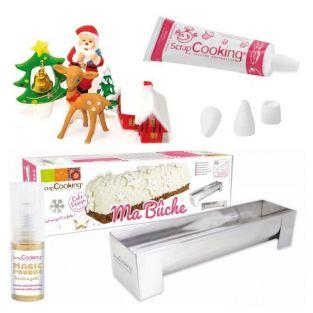 Kit Enchanted Christmas log + Golden...