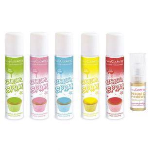 5 Lebensmittelfarben Spray 75 ml...