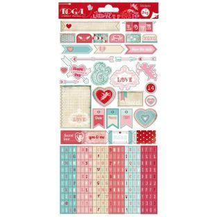 315 fancy stickers - Love