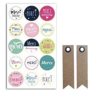 15 Merci sticky pads for gift...