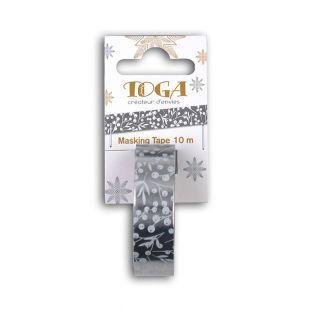 Silver masking tape Christmas foliage...
