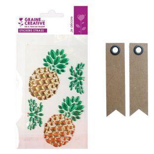 4 rhinestone stickers 15 x 9.5 cm -...