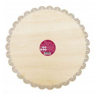 Portapastel redondo de madera ø 29cm
