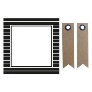 12 quadratische Aufkleber 6,3 cm -...