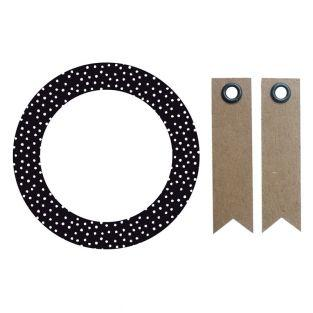 12 Kreisaufkleber Ø 6,3 cm - Schwarz...