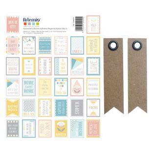64 timbres autocollants pastel...