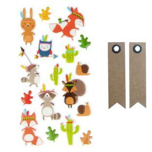 Puffy Sticker - Figuren Totem + 20...