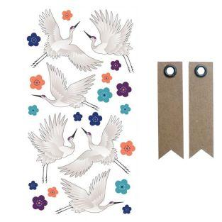 3D puffies stickers - Cranes + 20...