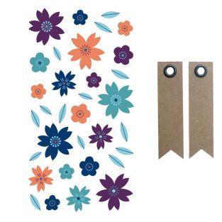 Pegatinas puffies 3D - Flores + 20...