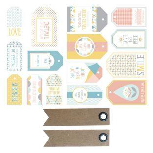 15 scandinavian pastel labels -...