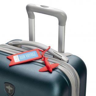 Etiquetas de equipaje Avión rojo