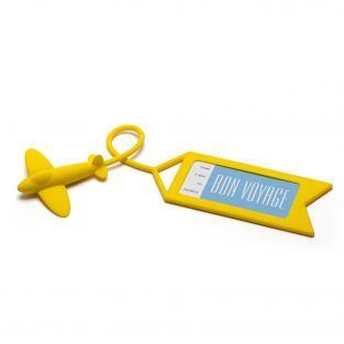Etiquette à bagage Avion jaune